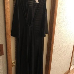 Other - Beautiful black bathing suit cover up with tags